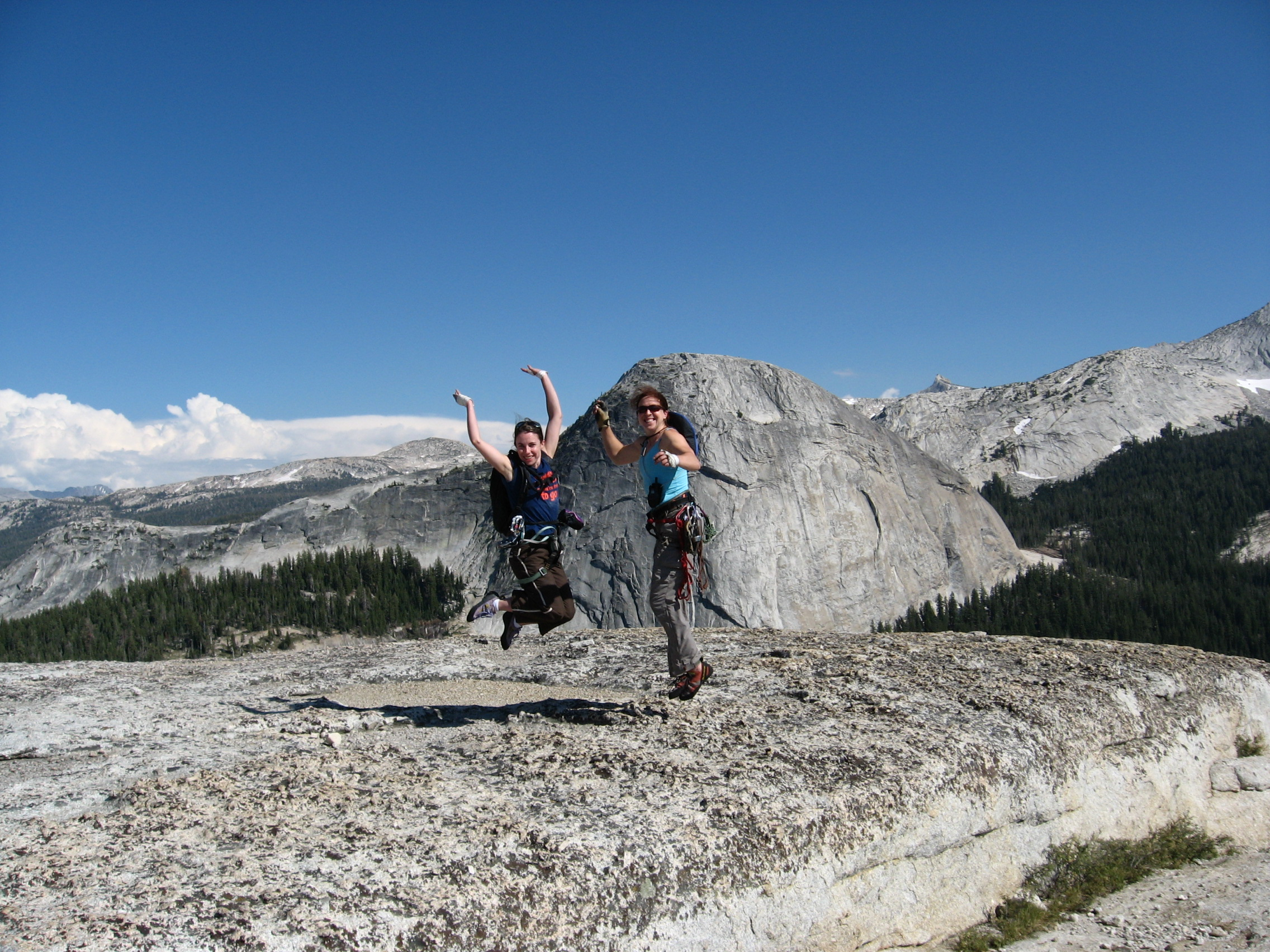 Jumping for Joy on Daff Dome