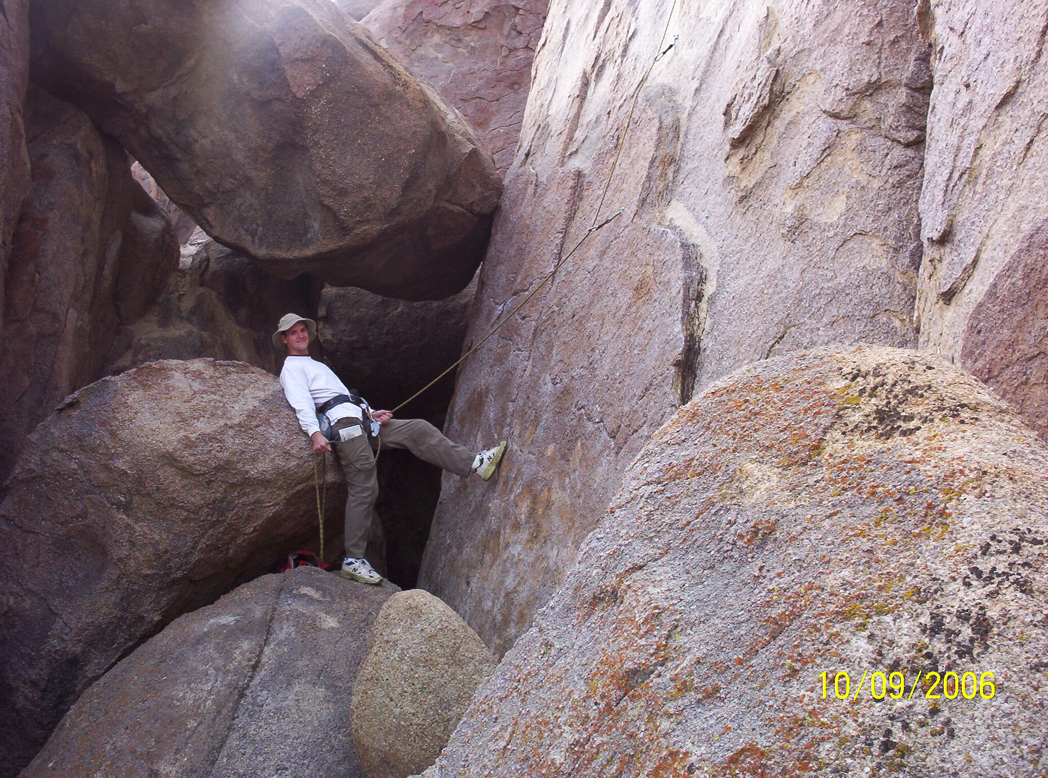 Dennis Belaying Clare on 44D