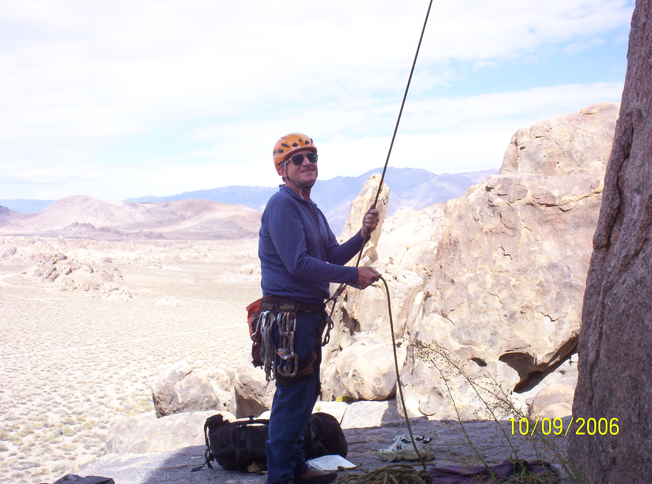 Walter Belaying at Pillar of Thoth