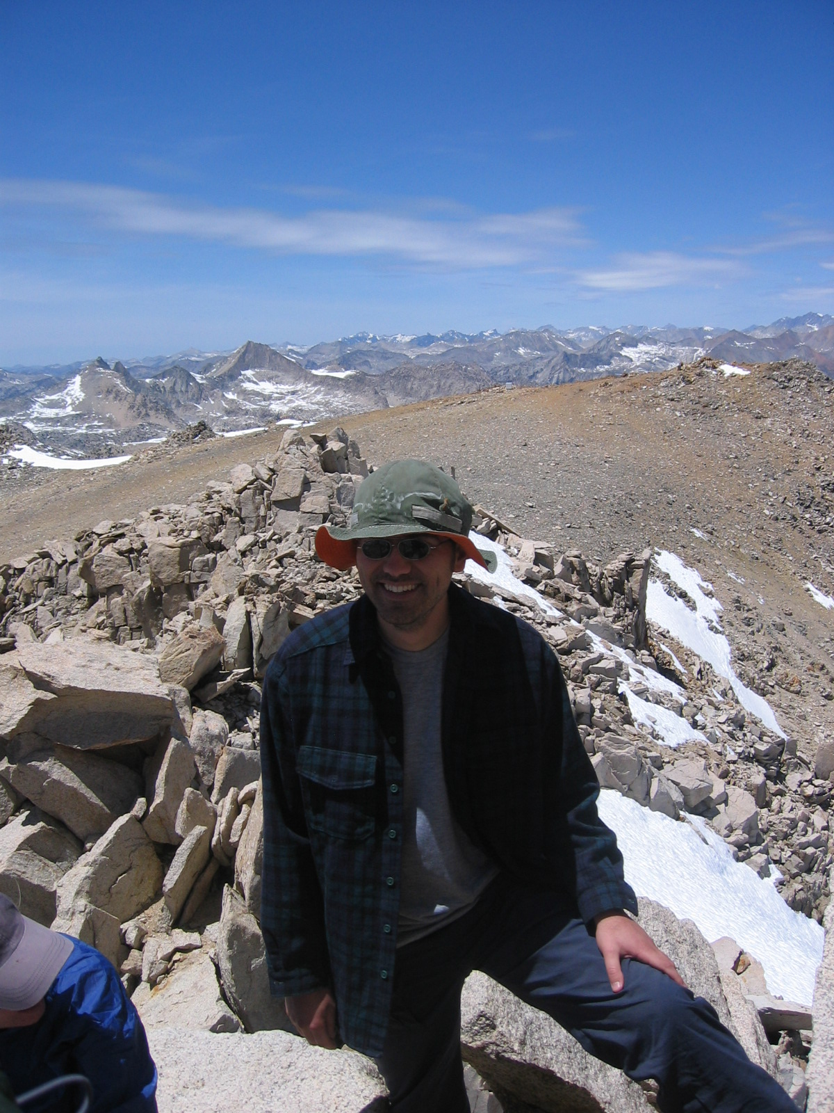 Petar stands proud on top of Mt. Gould