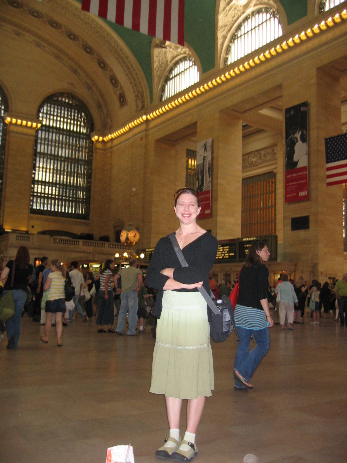 Clare in Grand Central Station