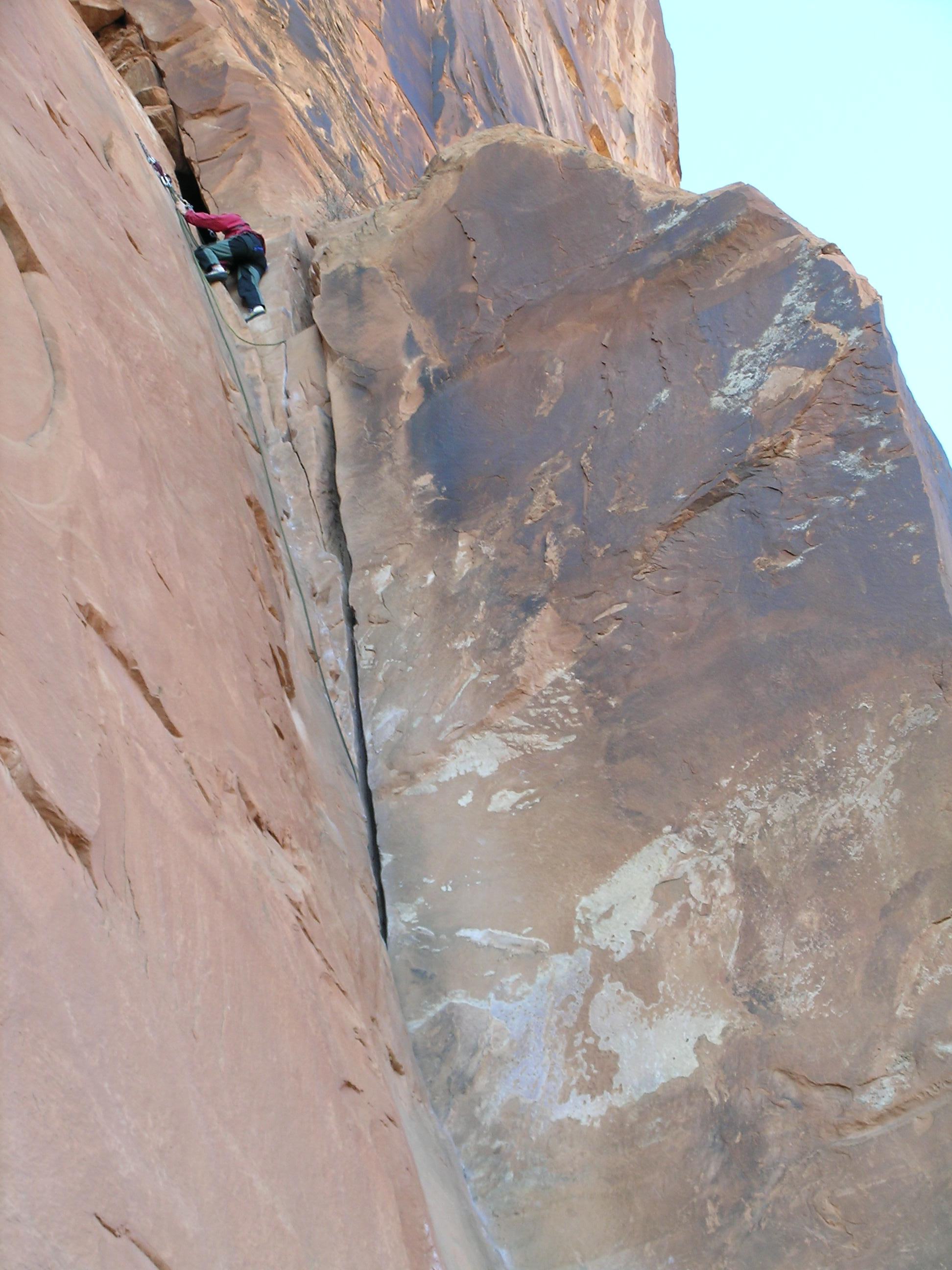"Holly Tops out on ""30 Seconds Over Potash"" 5.8 at Wall Street, Moab"